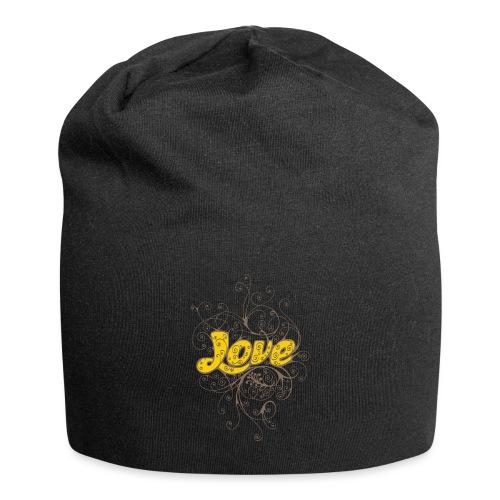 Scritta Love con decorazione - Beanie in jersey