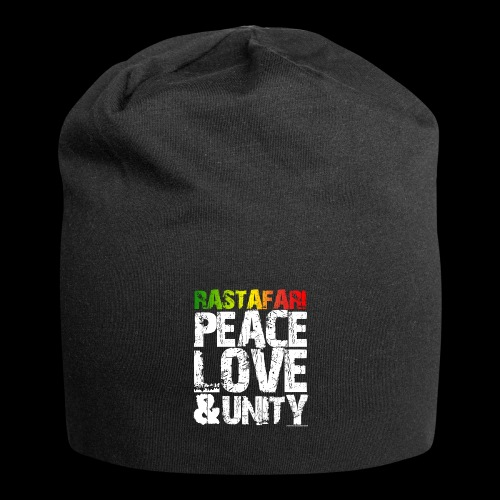 RASTAFARI - PEACE LOVE & UNITY - Jersey-Beanie