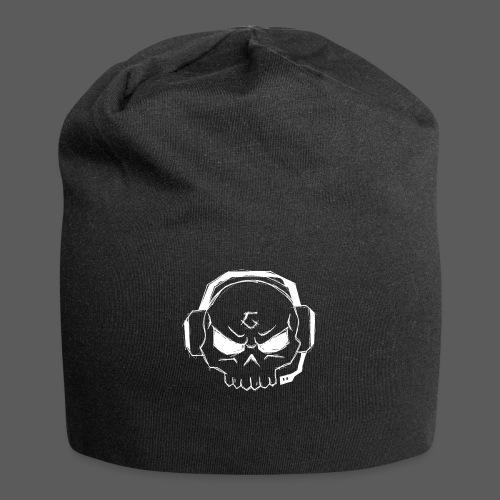 Gamer Skull Logo WHITE - Jersey-Beanie