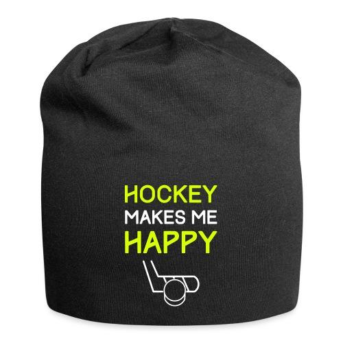 Hockey Makes Me Happy - Jersey Beanie