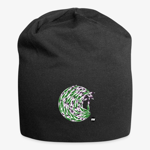 Verde e viola, the circle of tulips - Beanie in jersey