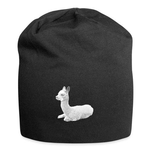 Kleines Alpaka - Jersey-Beanie