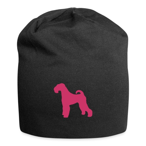 PINK Airedale Terrier - Jersey Beanie