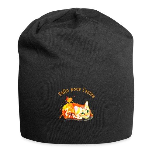 Chat roux,Félin pour l'autre - Bonnet en jersey