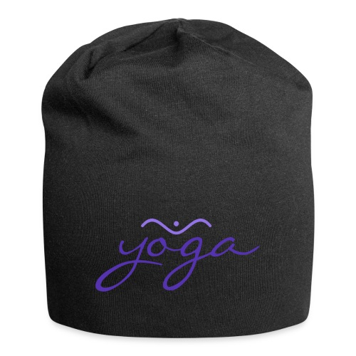 Yoga Balancing Typography And Emblem 3 - Jersey-Beanie