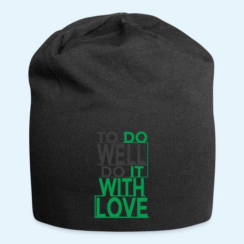 TO DO WELL DO IT WITH LOVE - Gorro holgado de tela de jersey
