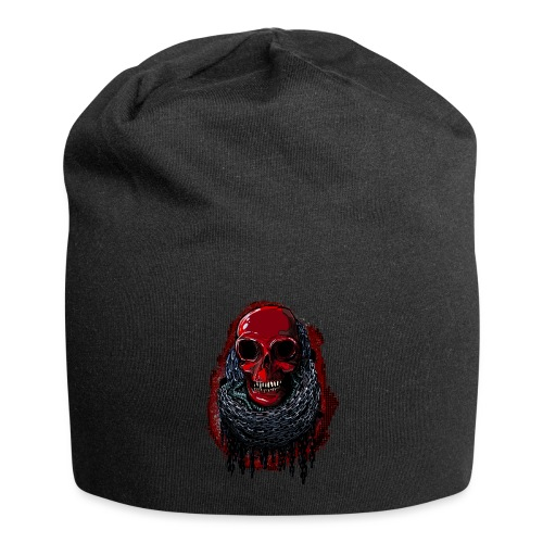 Red Skull in Chains - Jersey Beanie
