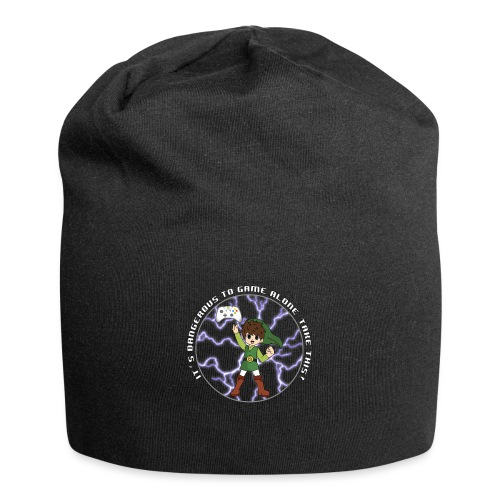 Dangerous To Game Alone - Jersey Beanie