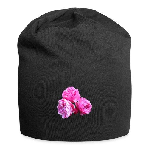 Rose rosa rot Sommer - Jersey-Beanie