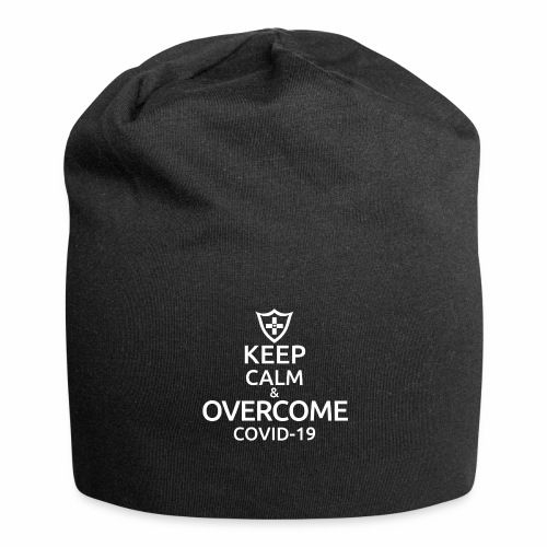 Keep calm and overcome - Czapka krasnal z dżerseju