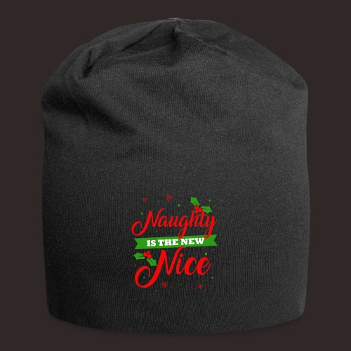 Weihnachten | unartig artig nett - Jersey-Beanie