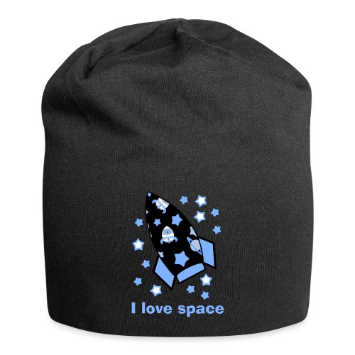 I love space - Beanie in jersey