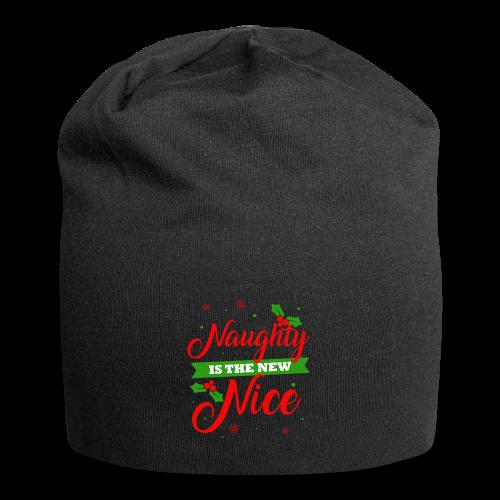 Weihnachten   unartig artig nett - Jersey-Beanie