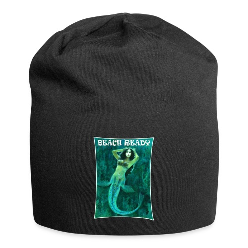 Vintage Pin-up Beach Ready Mermaid - Jersey Beanie