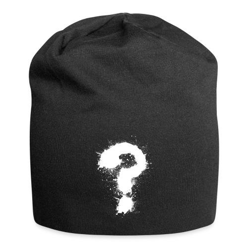 Fragezeichen - Jersey-Beanie