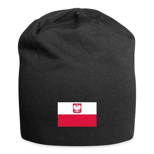 Flag of Poland with coat of arms - Czapka krasnal z dżerseju