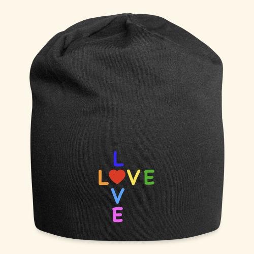 Rainbow Love. Regenbogen Liebe - Jersey-Beanie