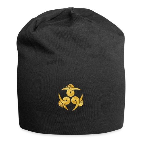 Three Geese Japanese Kamon in gold - Jersey Beanie