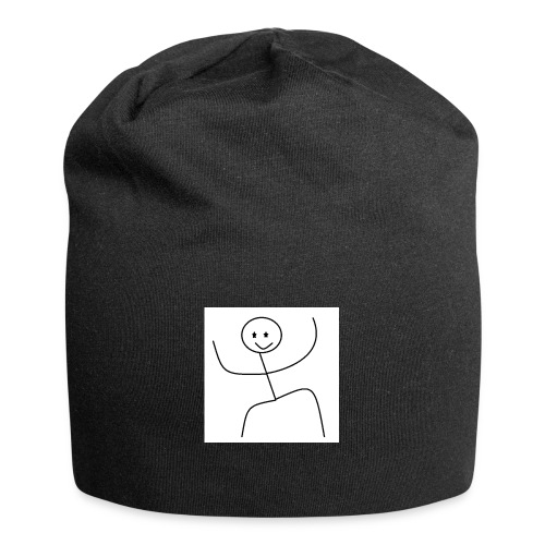 lady t-shirt stick man - Jersey-Beanie
