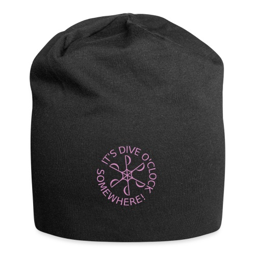 diveoclocklogodlpink png - Jersey Beanie