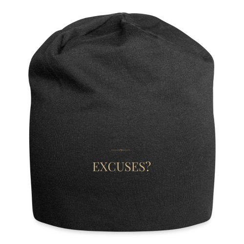 EXCUSES? Motivational T Shirt - Jersey Beanie