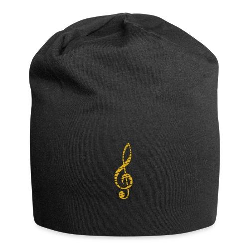 Goldenes Musik Schlüssel Symbol Chopped Up - Jersey Beanie