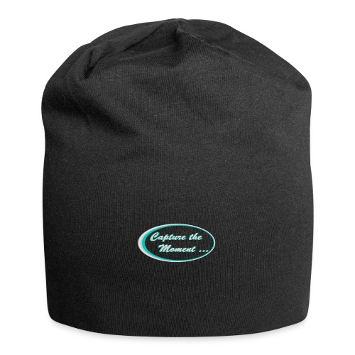 Logo capture the moment photography slogan - Jersey Beanie