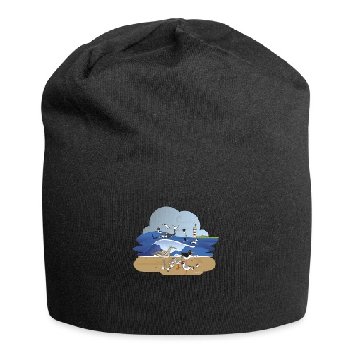 See... birds on the shore - Jersey Beanie