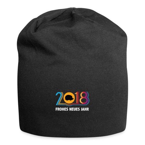 Frohes neues Jahr 2018 Igeldesign - Jersey-Beanie