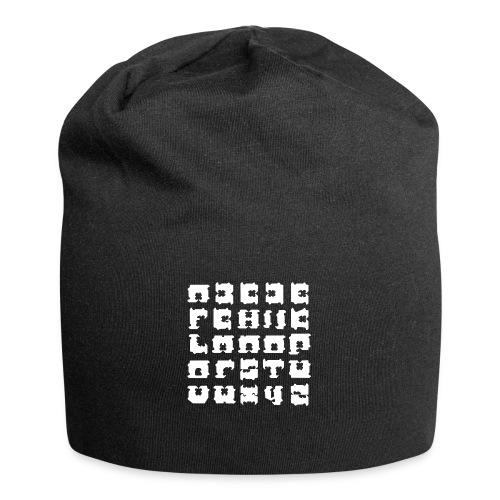 broodclip alfabet - Jersey-Beanie