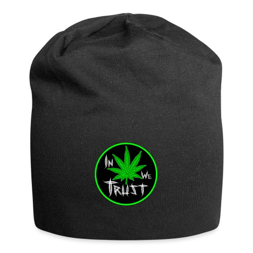 In weed we trust - Gorro holgado de tela de jersey
