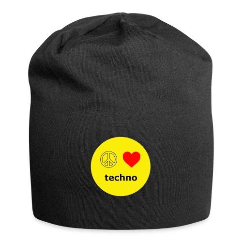 paz amor techno - Gorro holgado de tela de jersey