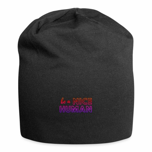 Be a Nice Human | rainbow - Beanie in jersey