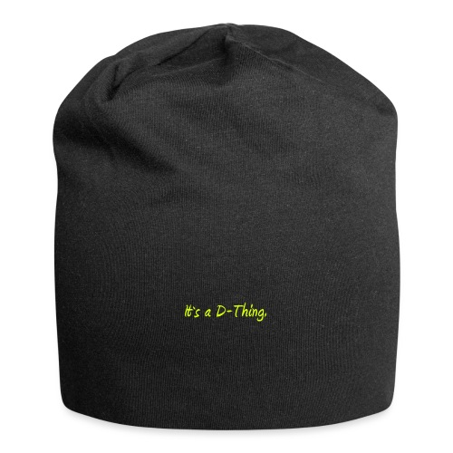 DTWear - It`s a D-Thing - Yellow / Geel - Jersey-Beanie