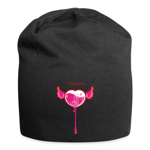 I love you - Beanie in jersey