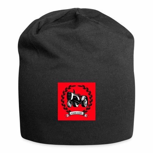 KonradSB czerwony - Czapka krasnal z dżerseju