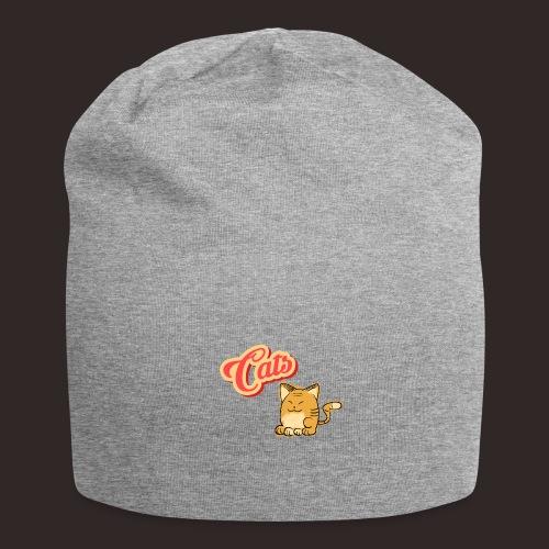 Katze | Katzen süß Schriftzug - Jersey-Beanie