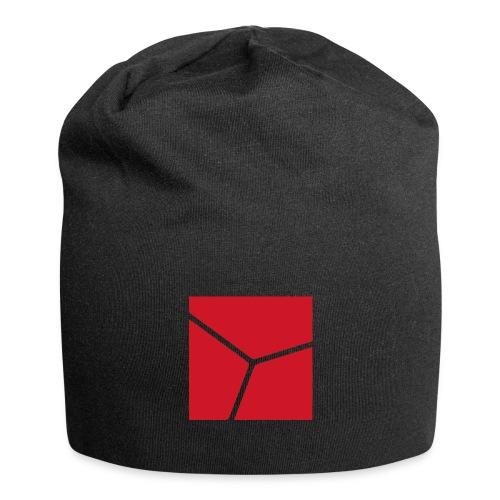 Logo in Rot - Jersey-Beanie