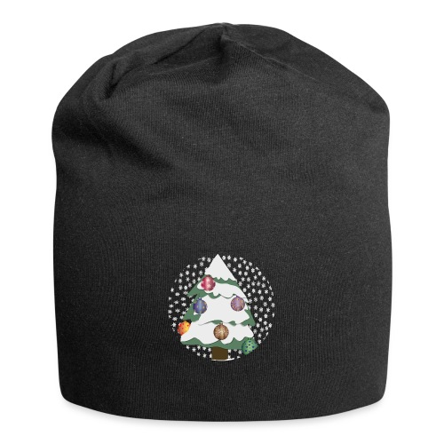 Christmas tree in snowstorm - Jersey Beanie