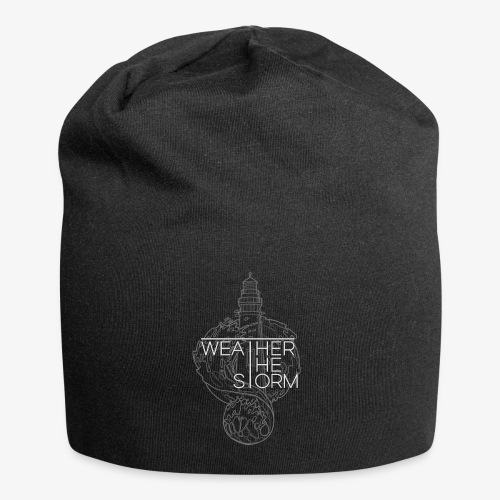 Weather The Storm Logo - Beanie in jersey
