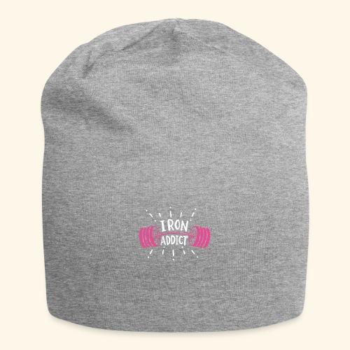 VSK Lustiges GYM Shirt Iron Addict - Jersey-Beanie