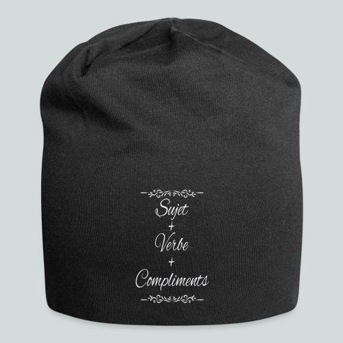 Sujet+verbe+compliments - Bonnet en jersey