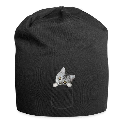 Vorschau: cat pocket - Jersey-Beanie