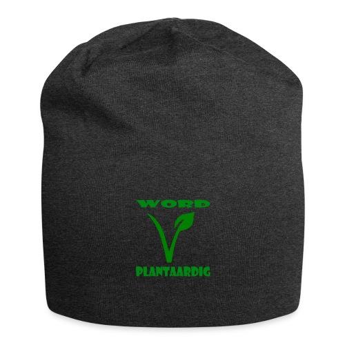 word plantaardig - Jersey-Beanie