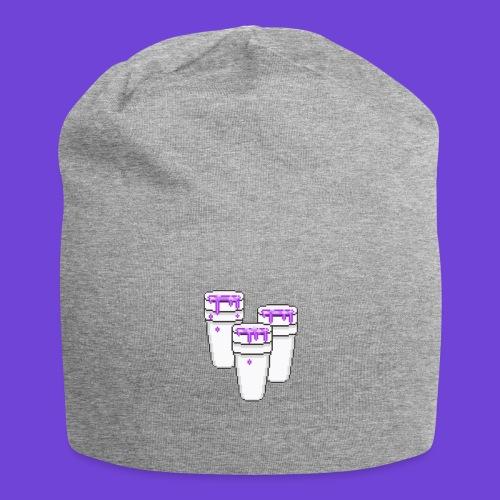 Purple - Beanie in jersey