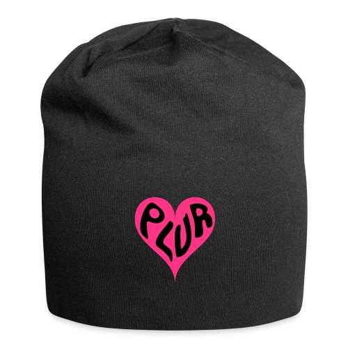 PLUR - Peace Love Unity and Respect love heart - Jersey Beanie