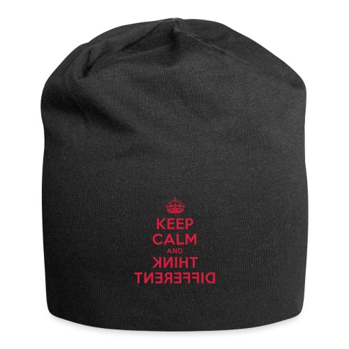 keep calm and think different - Jersey-Beanie