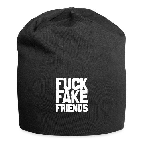 FUCK FAKE FRIENDS - Czapka krasnal z dżerseju