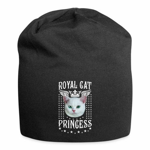 26 Royal Cat Princess white feine weiße Katze - Jersey-Beanie