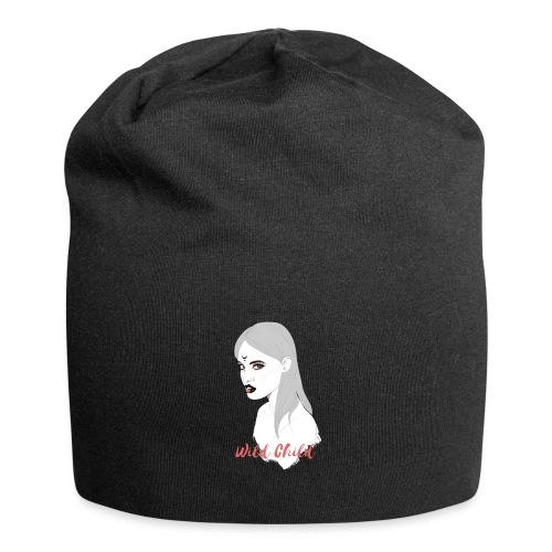dark t shirt design female - Gorro holgado de tela de jersey